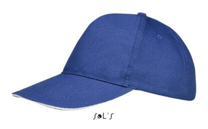 Azul royal - Blanco